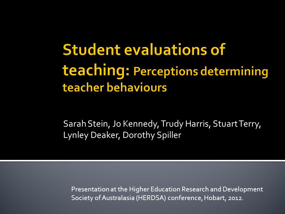  Title: Unlocking the Impact of Tertiary Teachers' Perceptions of Student Evaluations of Teaching  Ako Aotearoa (National Centre for Tertiary Teaching Excellence) National Project Fund grant ($150k)  2010 - 2011 2