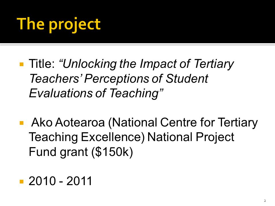 """ Title: """"Unlocking the Impact of Tertiary Teachers' Perceptions of Student Evaluations of Teaching""""  Ako Aotearoa (National Centre for Tertiary Teac"""