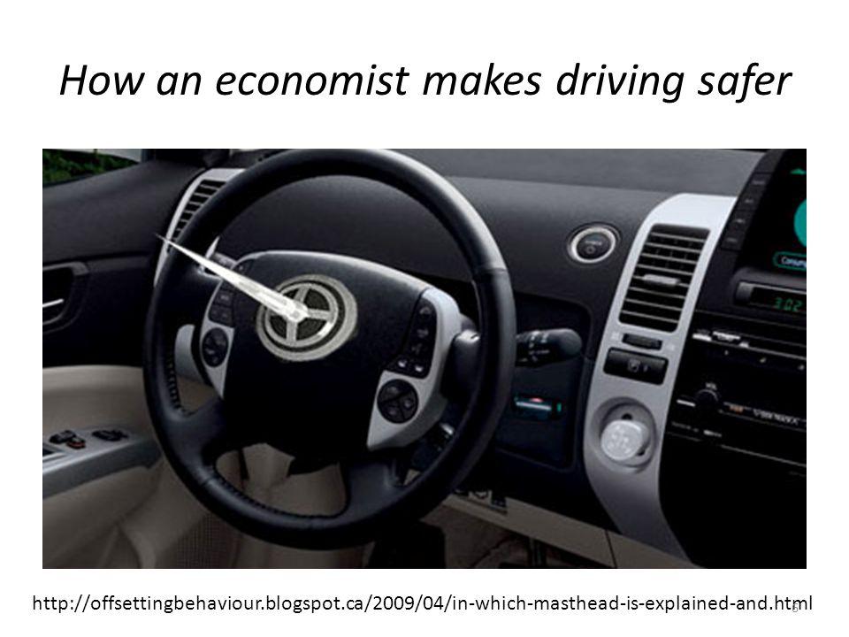How a behavioural economist makes driving safer http://www.youtube.com/watch?v=vJG698U2 Mvo 7