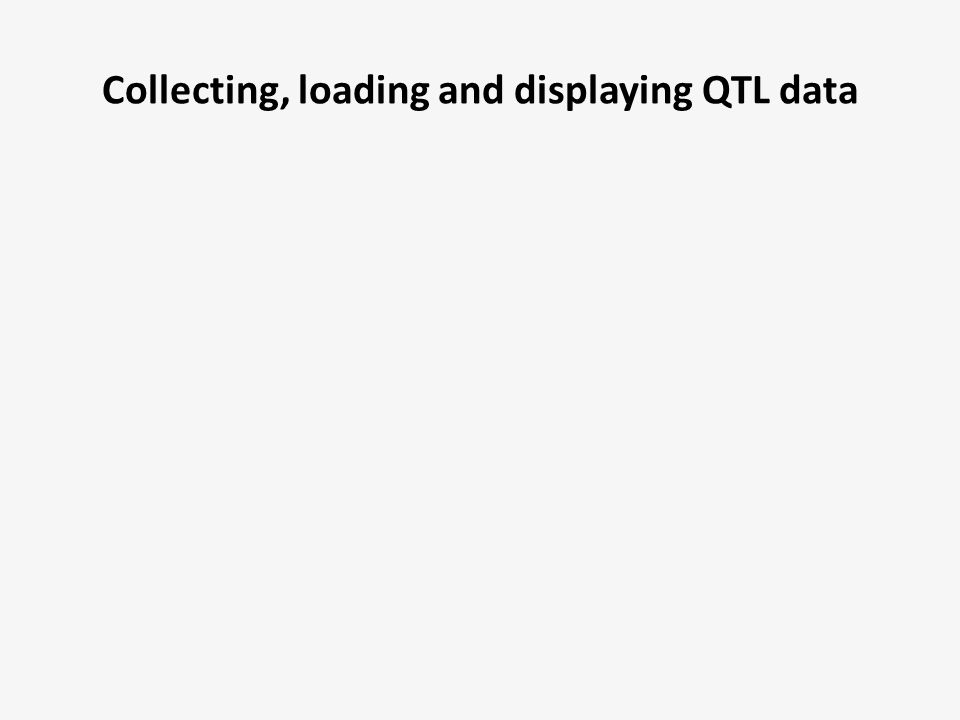 Collecting, loading and displaying QTL data
