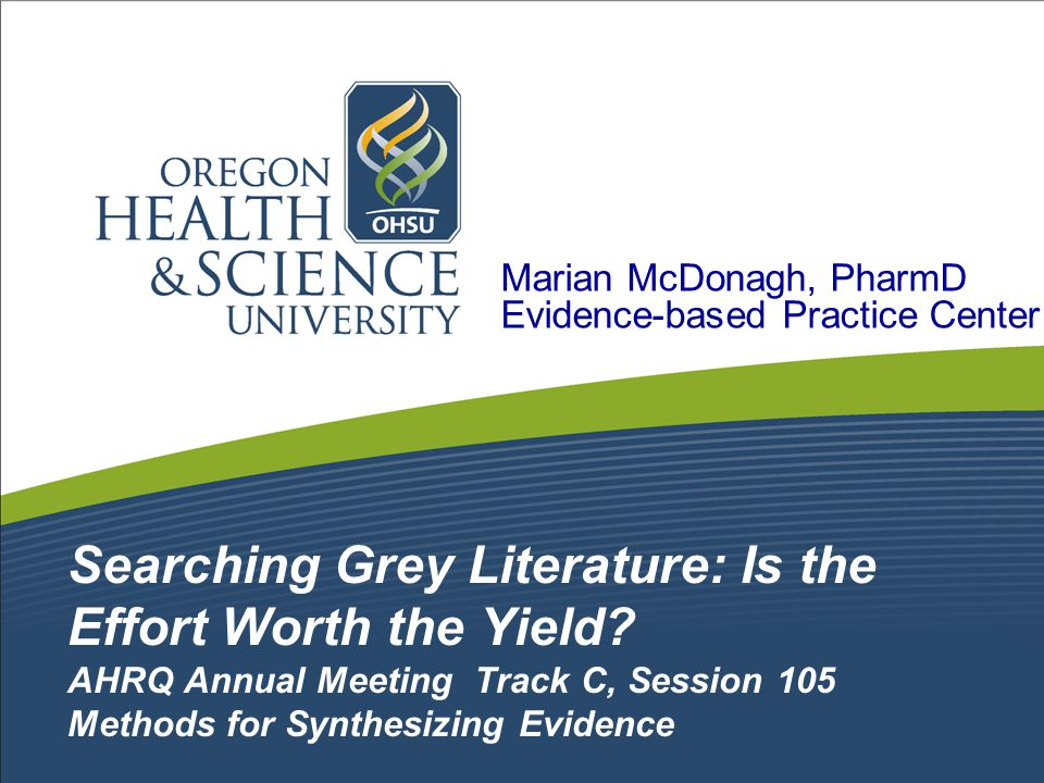 The Problem: Searching for and including grey literature adds substantial workload to a systematic review.