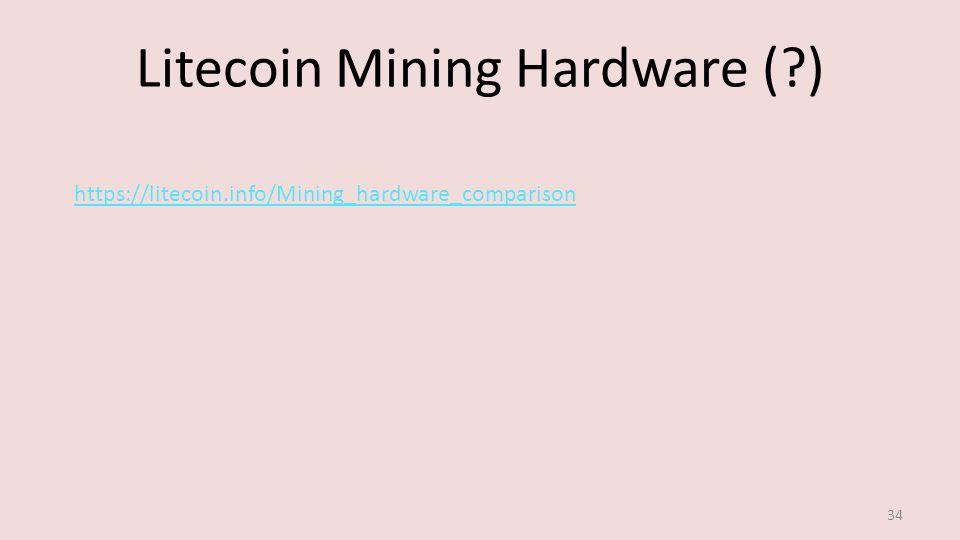 Litecoin Mining Hardware ( ) 34 https://litecoin.info/Mining_hardware_comparison