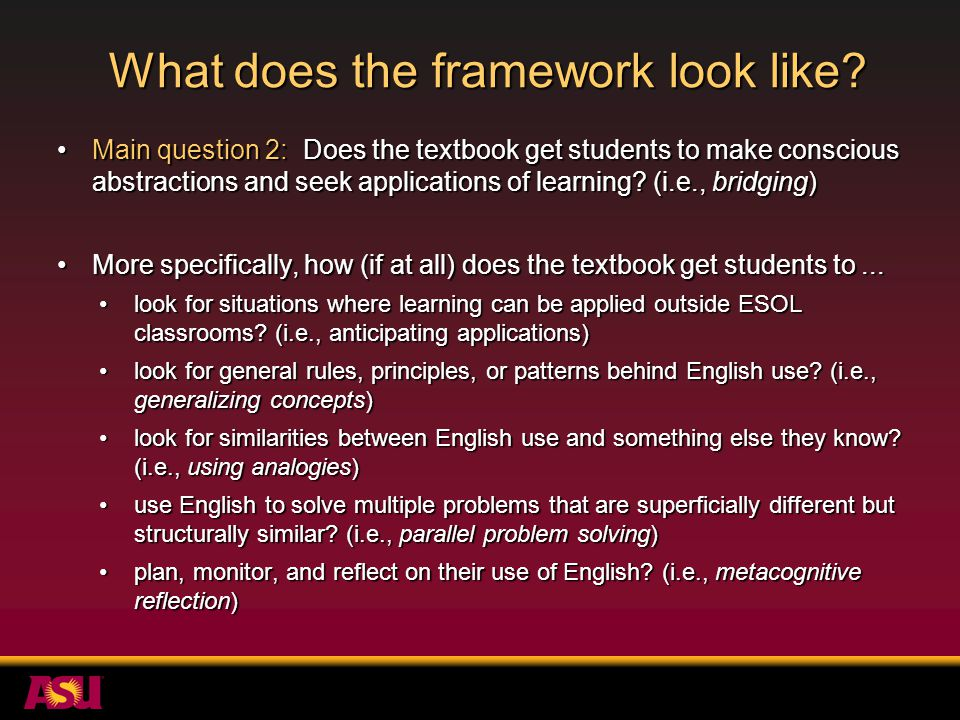 How does the framework work.