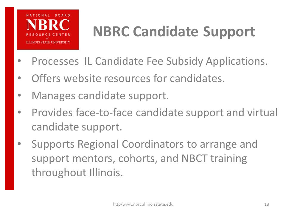NBRC Candidate Support Processes IL Candidate Fee Subsidy Applications.
