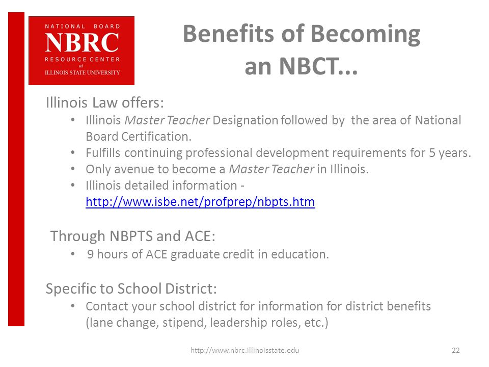 Benefits of Becoming an NBCT...