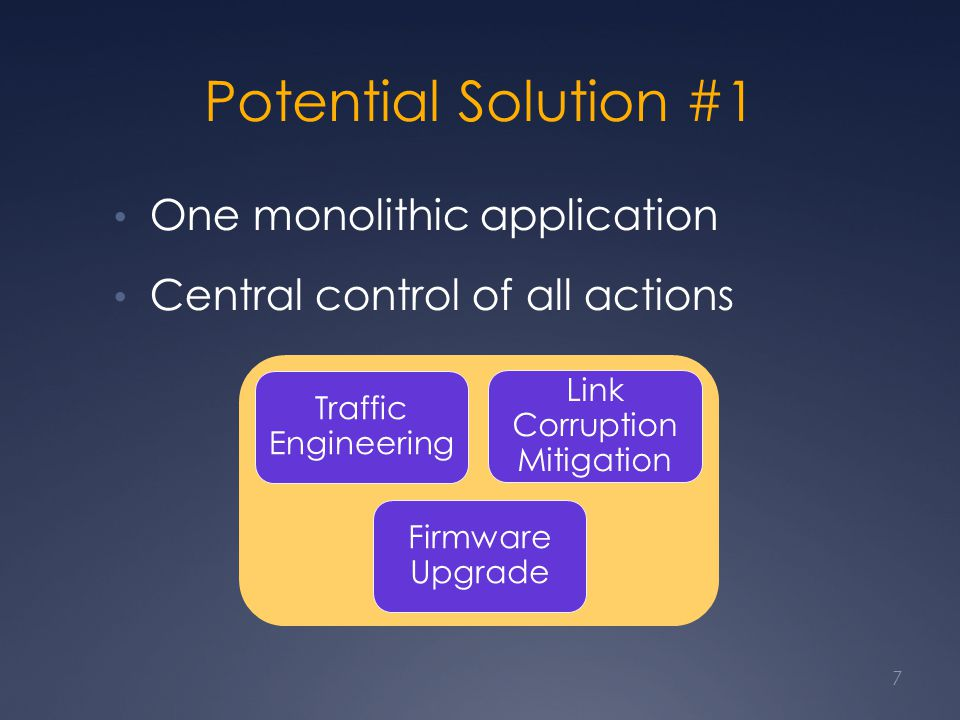 Too Complex to Build Difficult to develop Combine all applications that are already individually complicated High maintenance cost for such huge software in practice 8