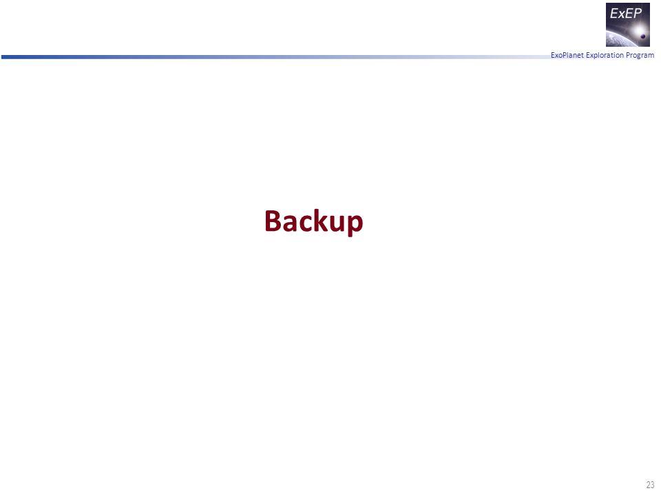 ExoPlanet Exploration Program Backup 23