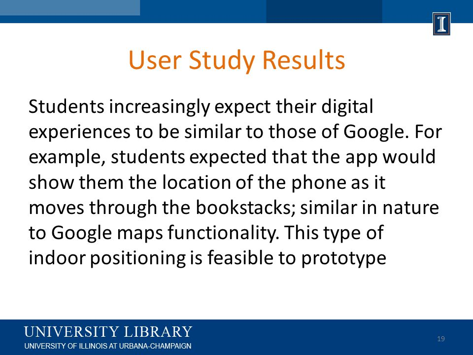 User Study Results Students increasingly expect their digital experiences to be similar to those of Google.