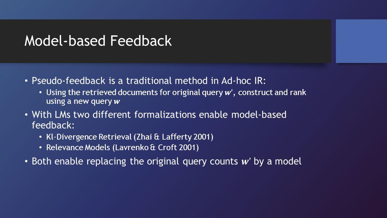 Model-based Feedback