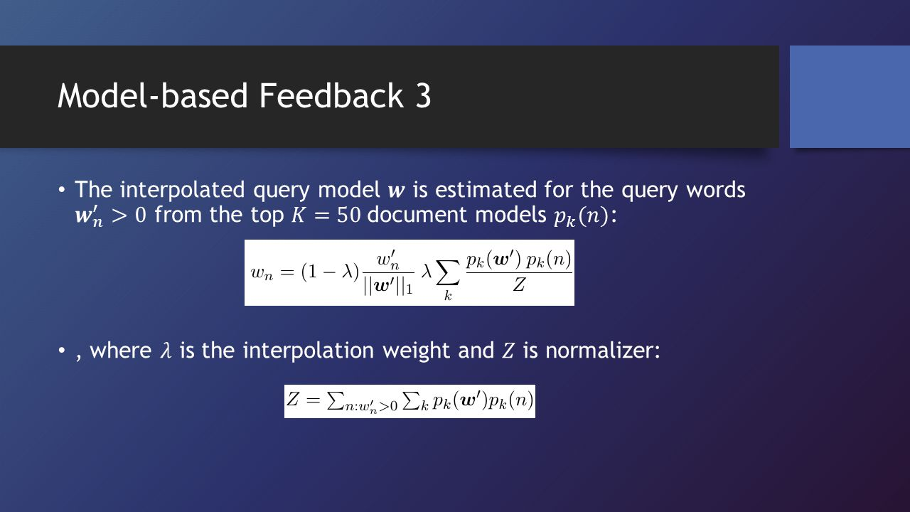 Model-based Feedback 3