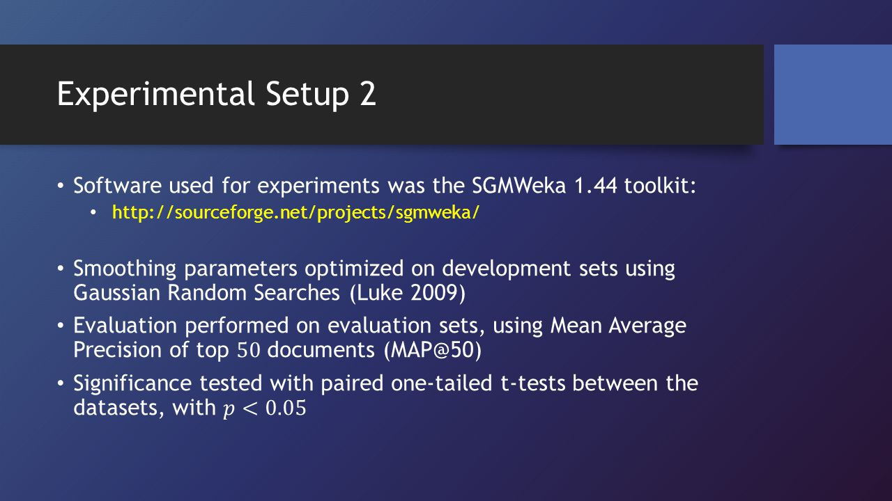 Experimental Setup 2