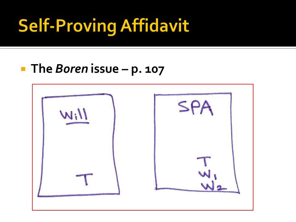  The Boren issue – p. 107