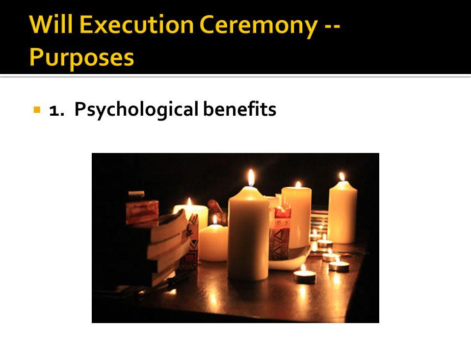  1. Psychological benefits