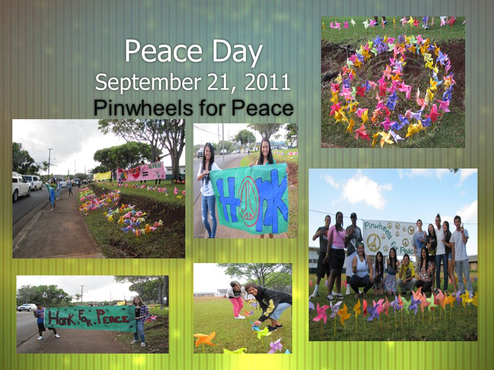 Peace Day September 21, 2011 Pinwheels for Peace