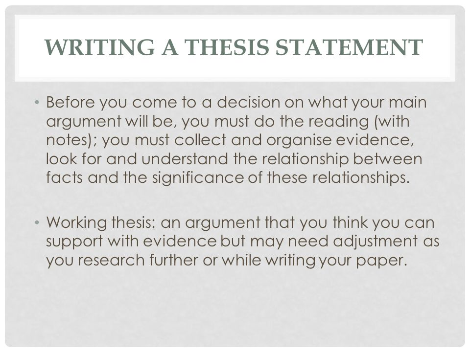 what is the benefit of a good clear working thesis statement Engages the reader in your argument tips for writing a good thesis to develop a working thesis statement private contributions for the benefit of the.