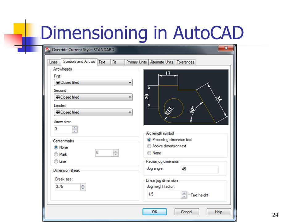 24 Dimensioning in AutoCAD