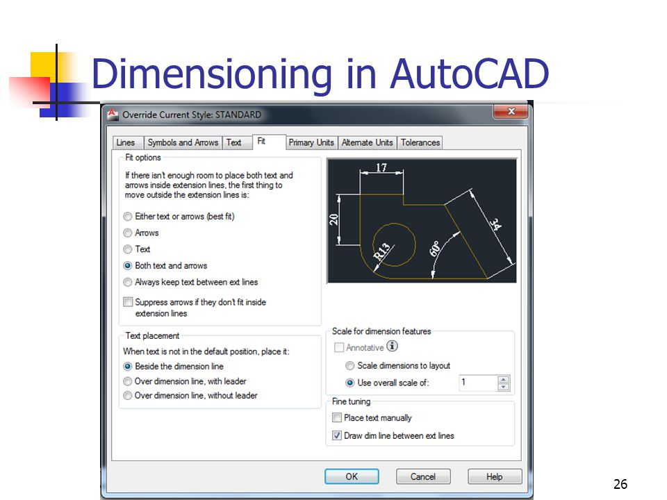 26 Dimensioning in AutoCAD