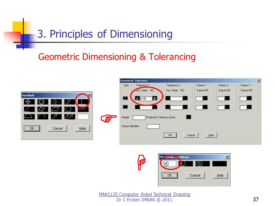 MAK112E Computer Aided Technical Drawing Dr C Erdem IMRAK @ 2011 37 3.