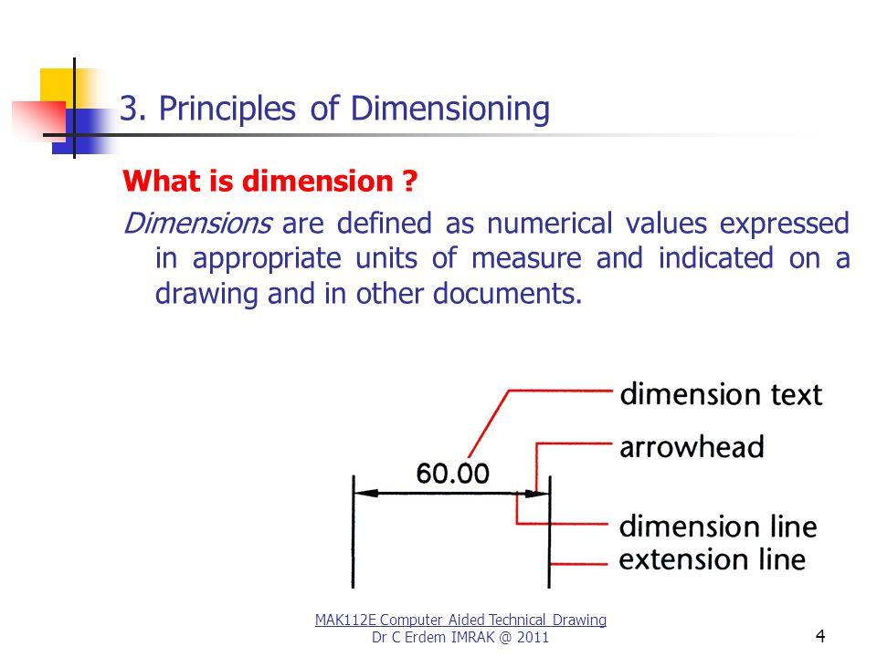 MAK112E Computer Aided Technical Drawing Dr C Erdem IMRAK @ 2011 4 3.