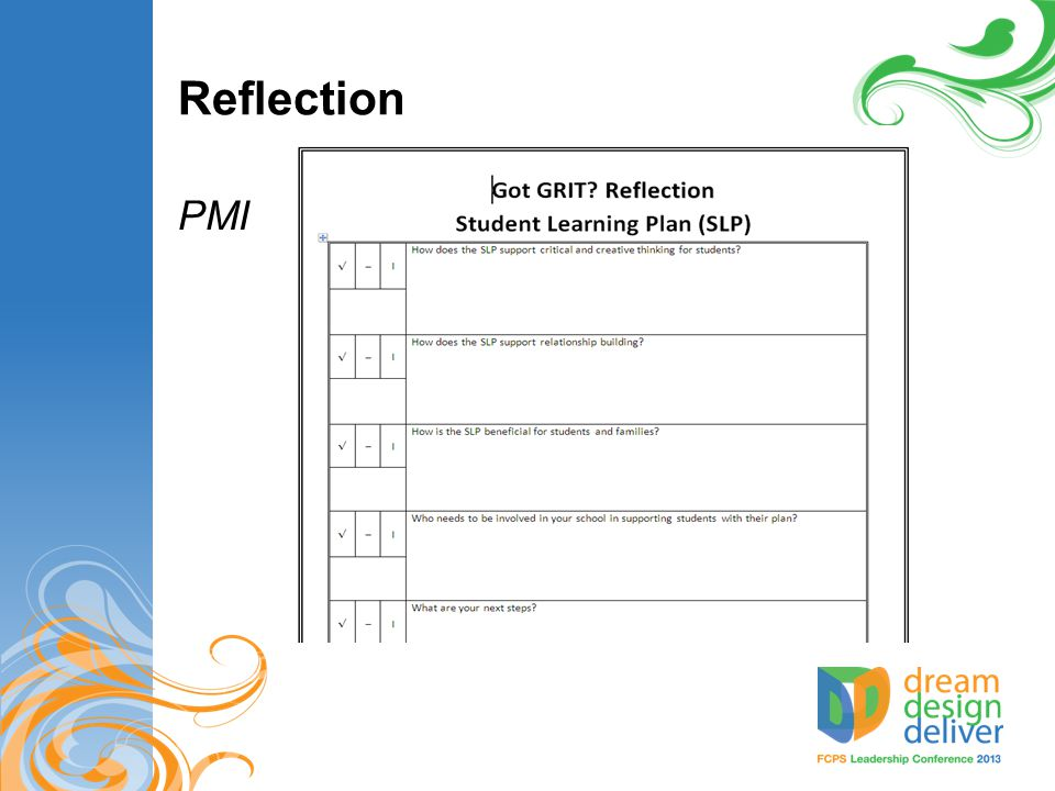 Reflection PMI