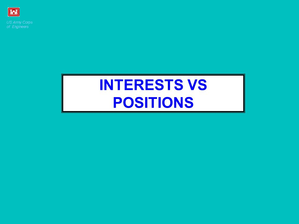 INTERESTS VS POSITIONS