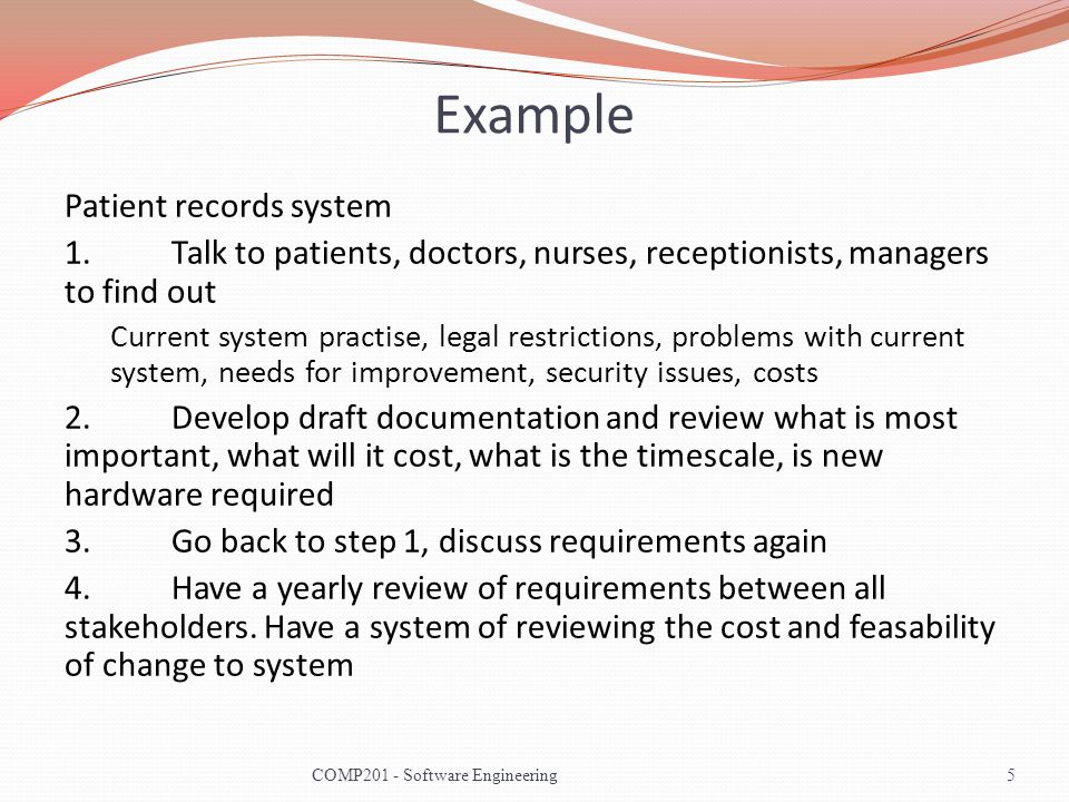 The Requirements Engineering Process 6COMP201 - Software Engineering