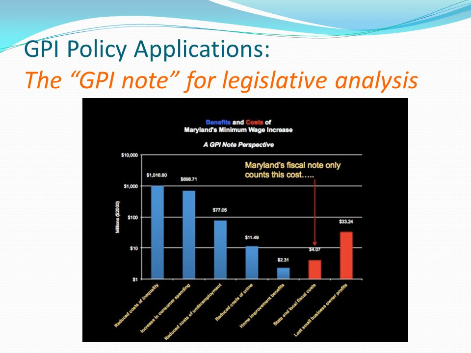 GPI Policy Applications: The GPI note for legislative analysis