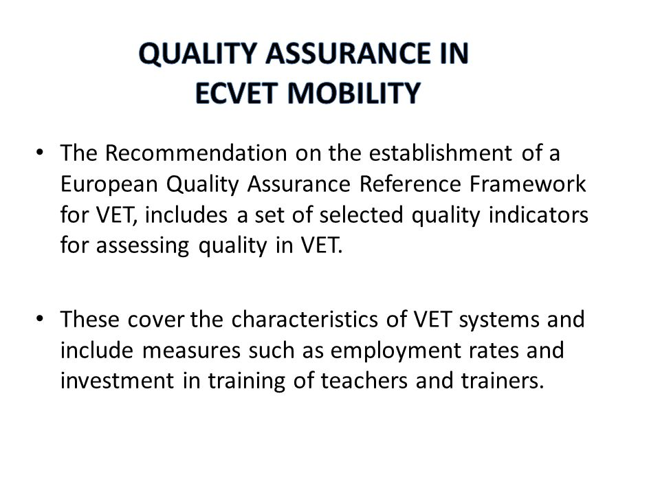 However we know that the expectations and requirements for quality assurance are likely to differ depending on whether conversations are with a certification body or a training centre.