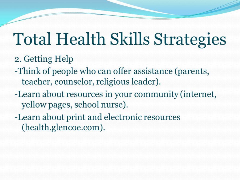 Total Health Skills Strategies 1.