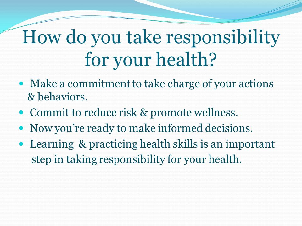 Section 1: BUILDING HEALTH SKILLS