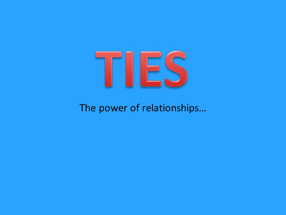 The power of relationships…
