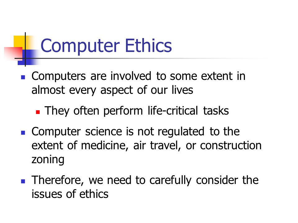 Types of Computer Crime Damage to computers, programs or files Viruses - migrate through systems attached to files and programs Worms - continuously self-replicate Theft Of hardware, software, data, computer time Software piracy - unauthorized copies of copyrighted material View/Manipulation Unauthorized entry and harmless message still illegal