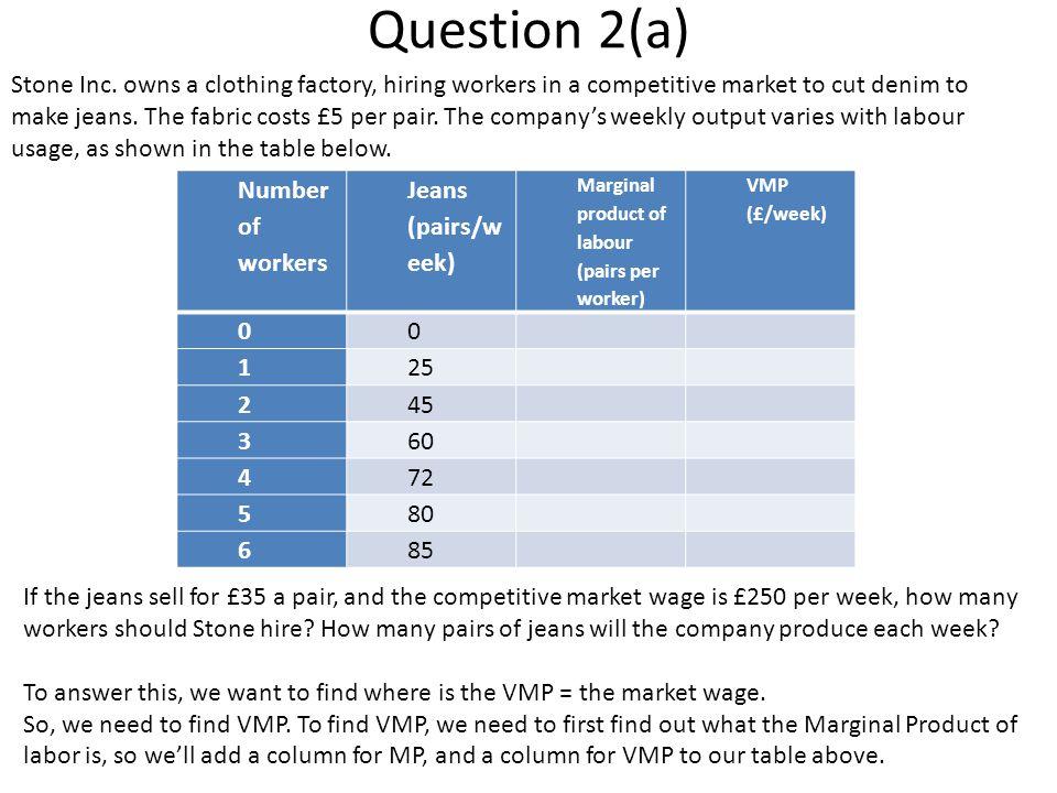 Question 2(a) Stone Inc.
