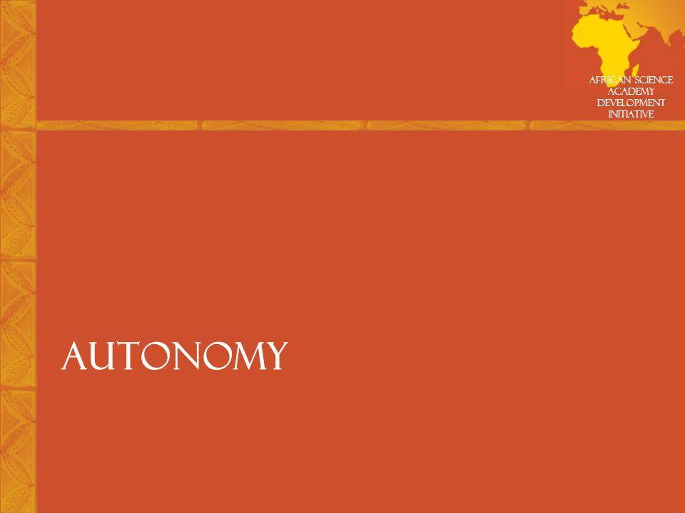 African Science Academy Development Initiative AUTONOMY