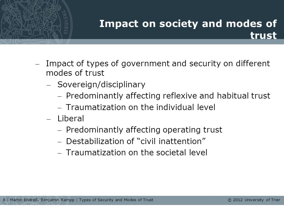 Conclusion Body scanners as a worthwhile case: focusing reflexive/habitual and operating trust.