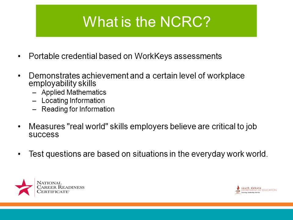 What is the NCRC.