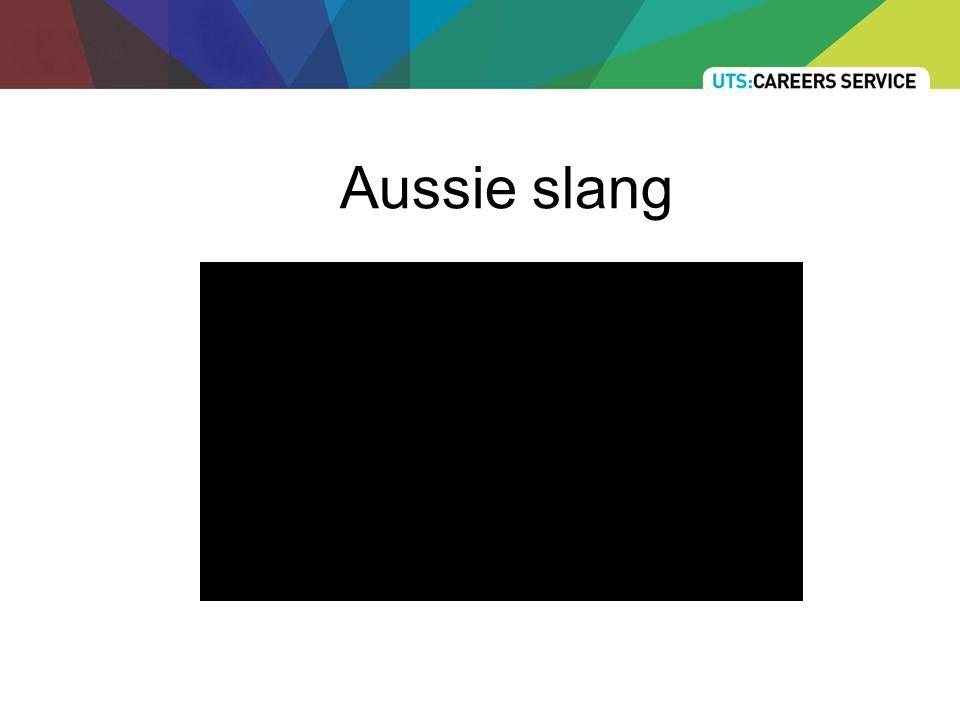Aussie slang