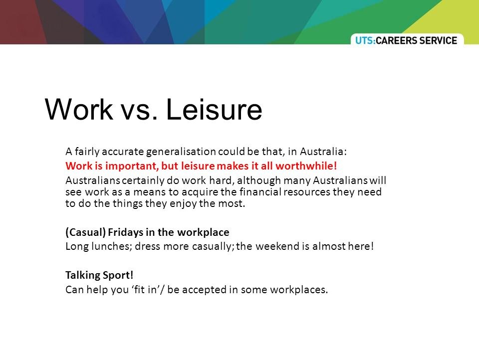 Work vs.