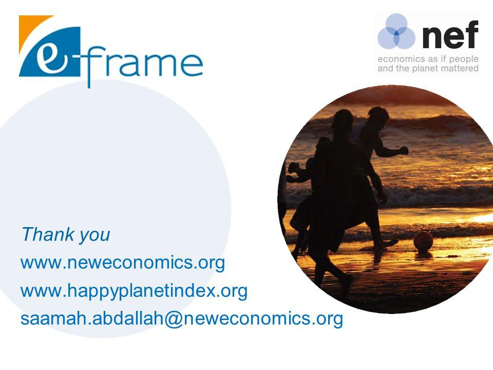 Thank you www.neweconomics.org www.happyplanetindex.org saamah.abdallah@neweconomics.org