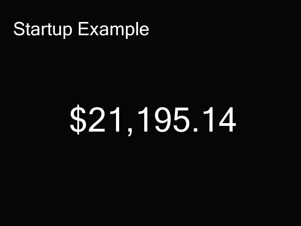 $21,195.14 Startup Example