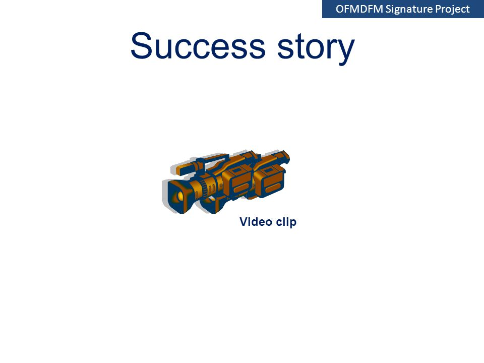 Success story Video clip OFMDFM Signature Project
