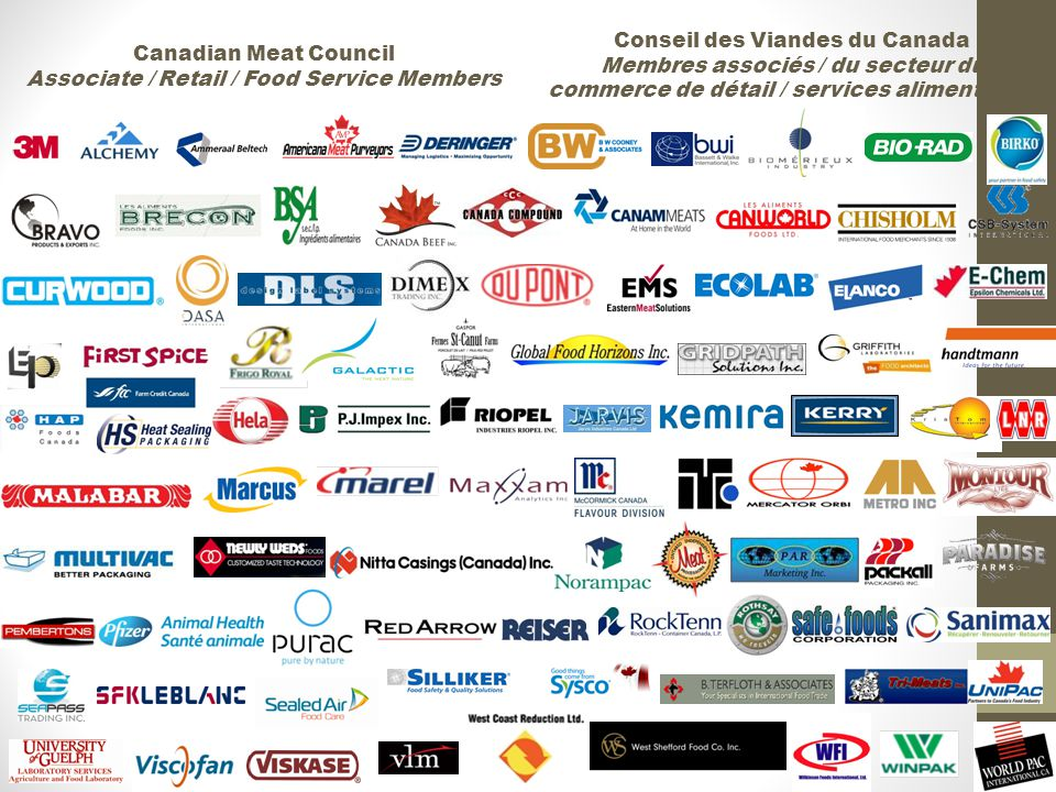 Conseil des Viandes du Canada Membres associés / du secteur du commerce de détail / services alimentaires Canadian Meat Council Associate / Retail / Food Service Members