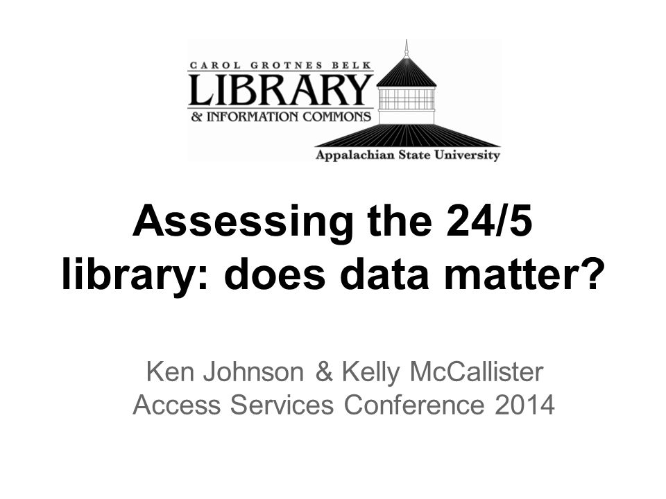 Assessing the 24/5 library: does data matter.