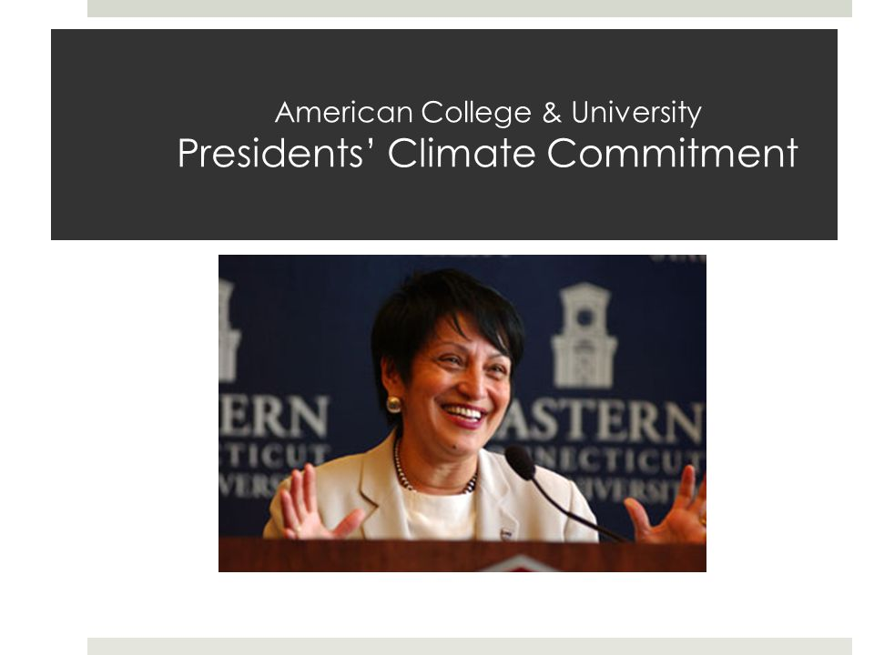 American College & University Presidents' Climate Commitment