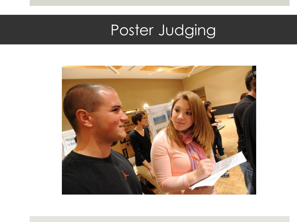 Poster Judging