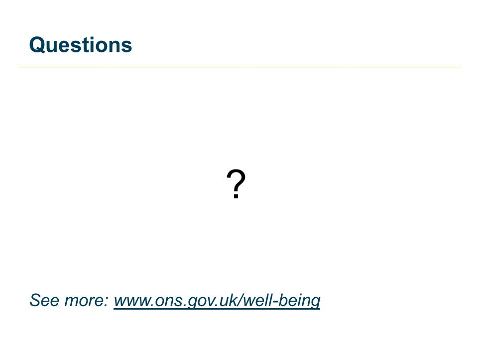 Questions See more: www.ons.gov.uk/well-being