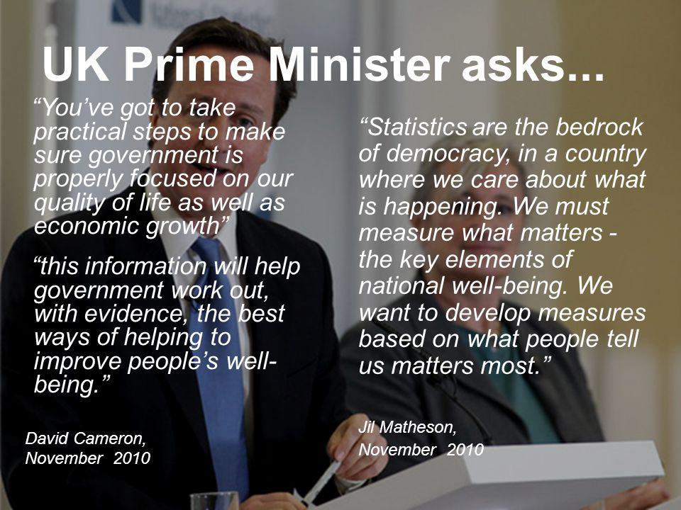 UK Prime Minister asks...
