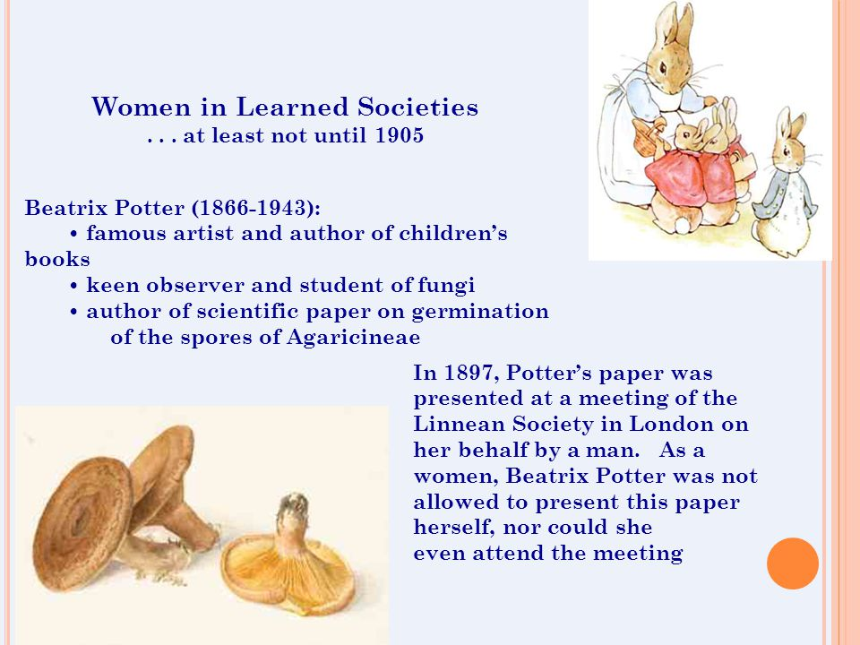 Women in Learned Societies...
