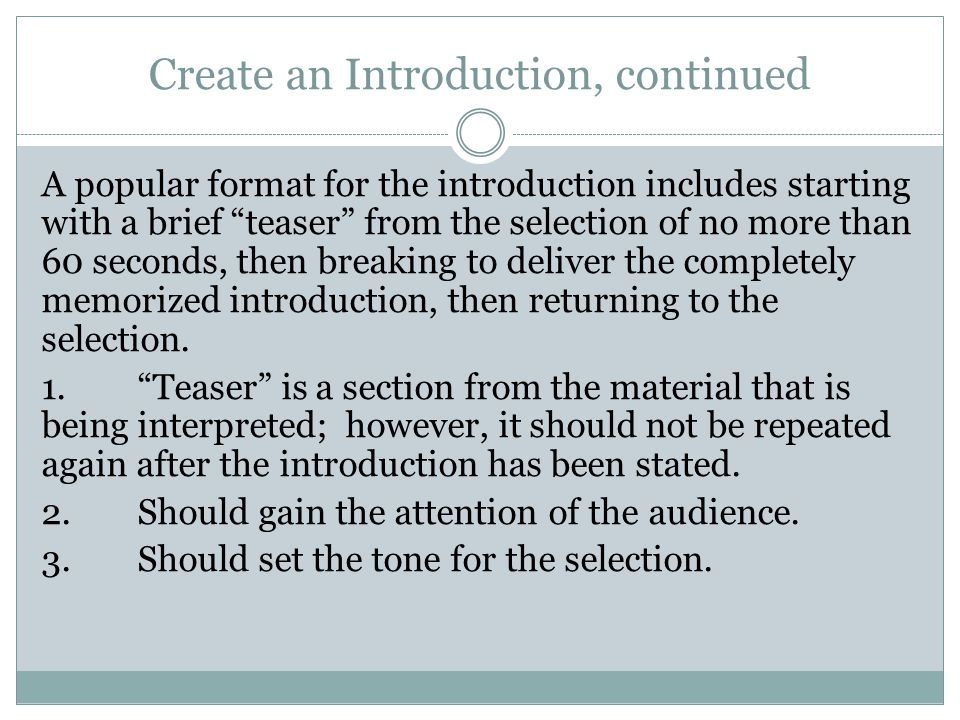 Prepare the Material A.Read the material aloud over and over and over.