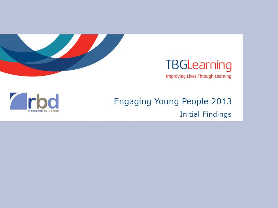 Engaging Young People 2013 Initial Findings